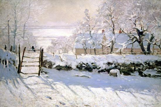 The Magpie, 1869-Claude Monet-Giclee Print
