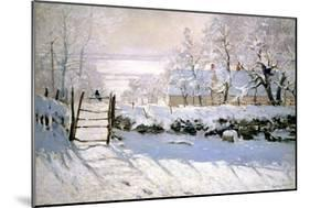 The Magpie, 1869-Claude Monet-Mounted Giclee Print