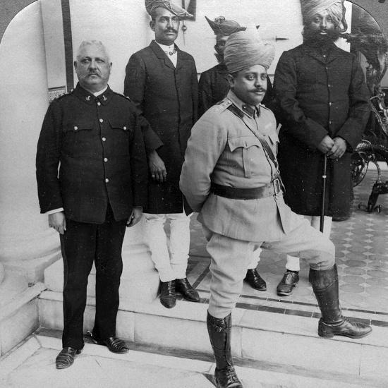 The Maharaja of Gwalior at Home, Madhya Pradesh, India, C1900s-Underwood & Underwood-Photographic Print