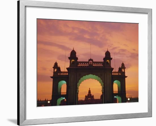 The Maharaja's Palace, Mysore, Karnataka State, India-Charles Bowman-Framed Photographic Print