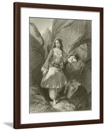 The Maiden of the Cave-Henry Corbould-Framed Giclee Print