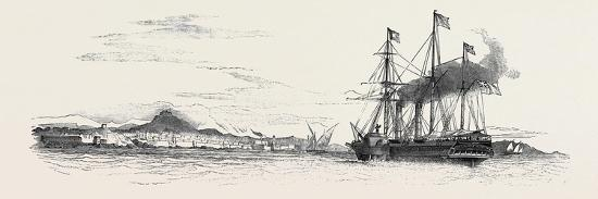 The Mail Packet from Alexandria, Off Marseilles, the Indian Mail on Board--Giclee Print