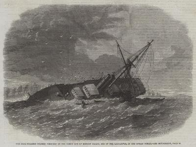 The Mail-Steamer Colombo Wrecked on the North End of Minicoy Island--Giclee Print