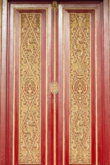 The Main Door of the Silver Pagoda, Wat Preah Keo Morokot, Phnom Penh, Cambodia--Photographic Print