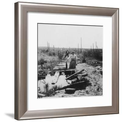 The Main Road, Hill 60, Belgium, World War I, C1914-C1918- Nightingale & Co-Framed Giclee Print