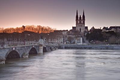 The Maine River Flowing Through the City of Angers-Julian Elliott-Photographic Print