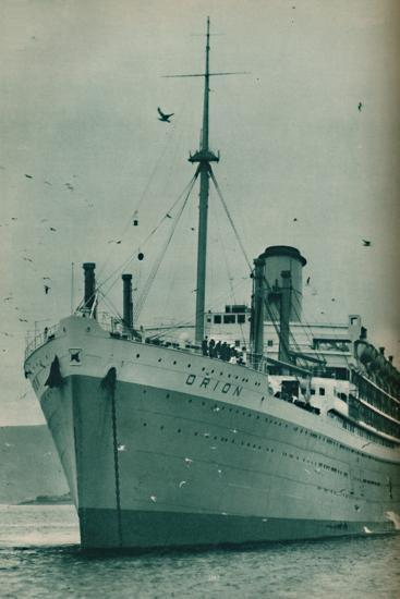 'The Majesty of a Great Liner - The Orion at anchor', 1937-Unknown-Photographic Print