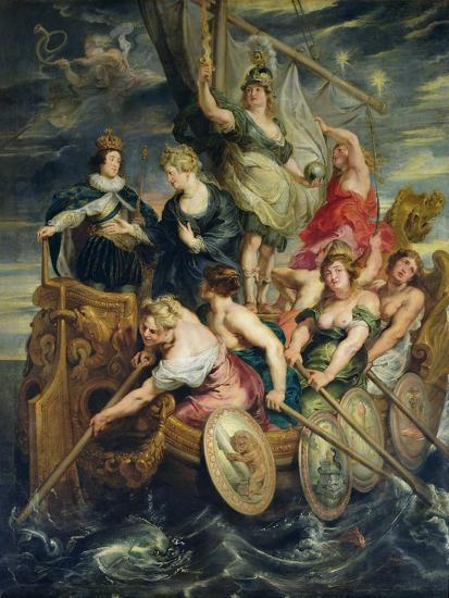 The Majority of Louis XIII 20th October 1614, 1621-25-Peter Paul Rubens-Giclee Print