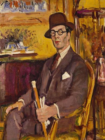 The Malacca Cane, a Portrait of Duncan Macdonald, Esq, Seated-George Leslie Hunter-Giclee Print