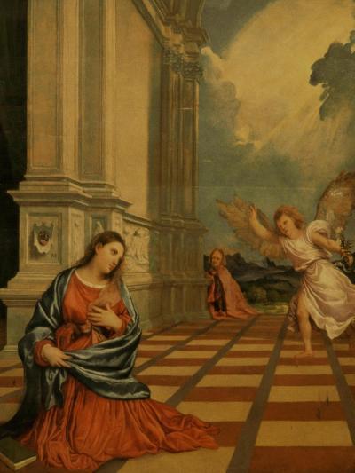 The Malchiostro Annunciation, circa 1520-Titian (Tiziano Vecelli)-Giclee Print