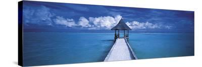 The Maldives-Peter Adams-Stretched Canvas Print