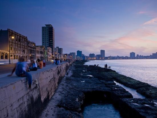 The Malecon, Havana, Cuba, West Indies, Central America-Ben Pipe-Photographic Print