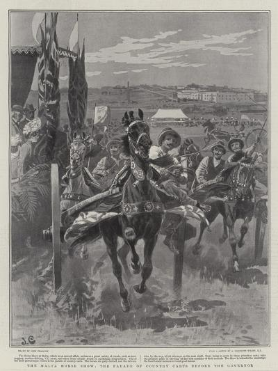 The Malta Horse Show, the Parade of Country Carts before the Governor-John Charlton-Giclee Print