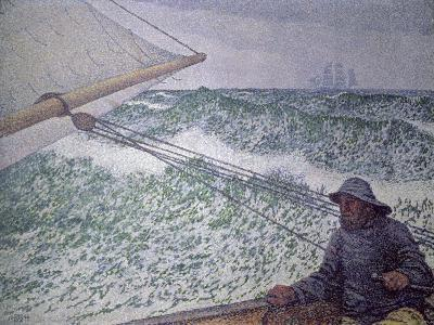 The Man at the Tiller, 1892-Th?o van Rysselberghe-Giclee Print