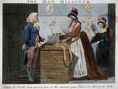 The Man Milliner, 1793, United Kingdom, 18th Century--Giclee Print