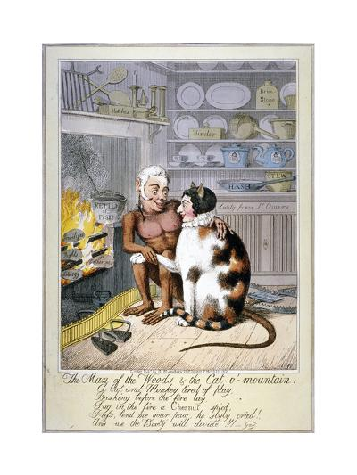 The Man of the Woods and the Cat-O'-Mountain, 1821-Theodore Lane-Giclee Print