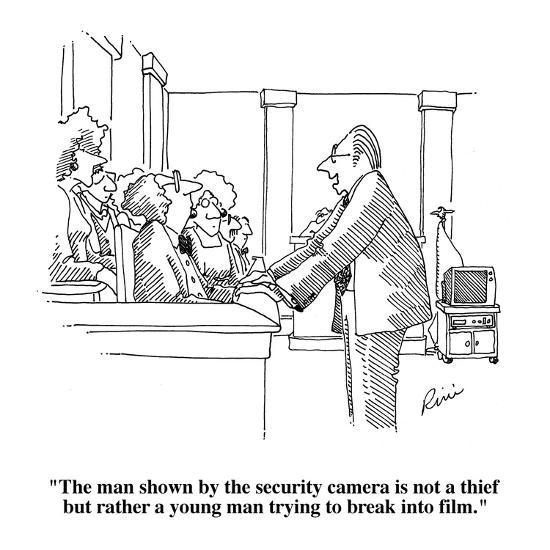 The Man Shown By The Security Camera Is Not A Thief But Rather A