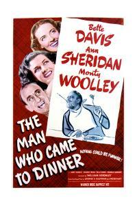 The Man Who Came to Dinner - Movie Poster Reproduction