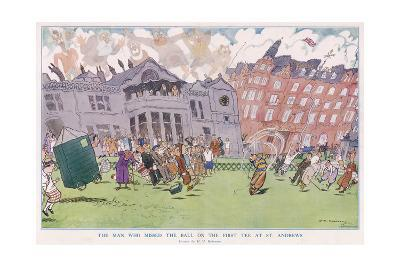 The Man Who Missed the Ball on the First Tee at St. Andrews--Giclee Print
