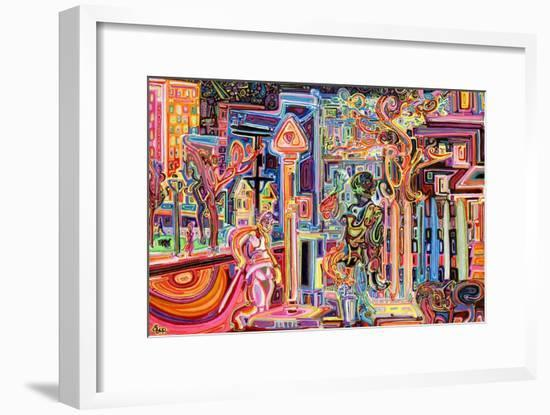 The Man Who Was A Lighter And A Duck And A Snake-Josh Byer-Framed Giclee Print