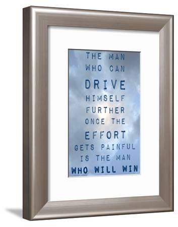 The Man Who Will Win-Veruca Salt-Framed Art Print