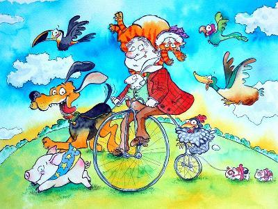 The Man Who Wore His Cat as a Hat-Maylee Christie-Giclee Print