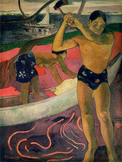 The Man with an Axe, 1891-Paul Gauguin-Giclee Print