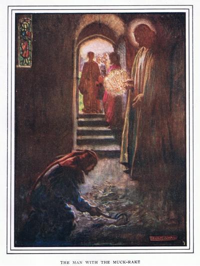 The Man with the Muck Rake-John Byam Liston Shaw-Giclee Print