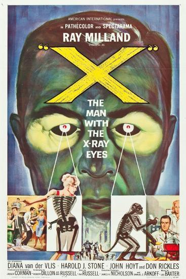 The Man With the X-Ray Eyes, poster art, 1963--Art Print