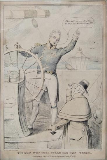 The Man Wot Will Steer His Own Vessel, 1830-Robert Seymour-Giclee Print