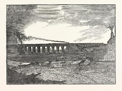 The Manchester and Liverpool Railway: Sankey Viaduct--Giclee Print