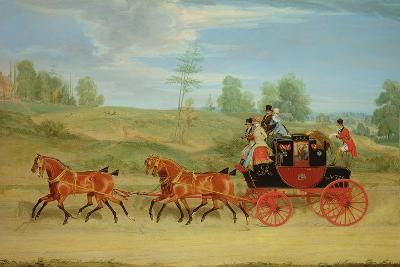 The Manchester and London Royal Mail Coach-James Pollard-Giclee Print