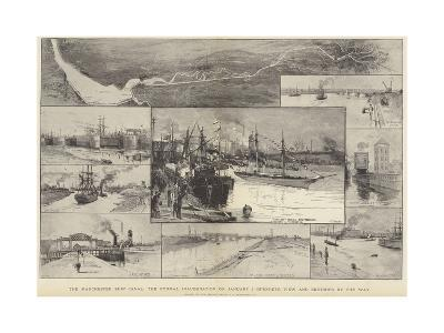 The Manchester Ship Canal, the Formal Inauguration on 1 January-Charles Joseph Staniland-Giclee Print