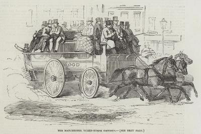 The Manchester Three-Horse Omnibus--Giclee Print