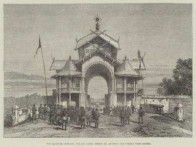 The Manipur Outrage, Palace Gates, Where Mr Quinton and Others Were Seized- Warry-Giclee Print