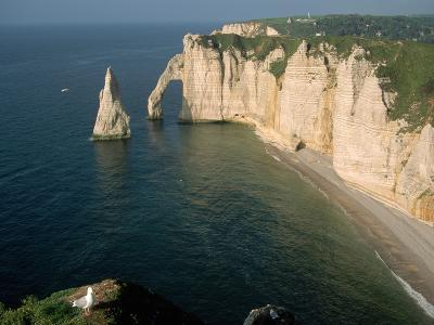 The Manneport Arch and Aiguille of Etretat Cliffs, France-Franz-Marc Frei-Photographic Print