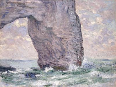 The Manneporte Seen from Below, 1883-Claude Monet-Giclee Print