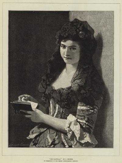 The Mantilla-Carl Ludwig Friedrich Becker-Giclee Print