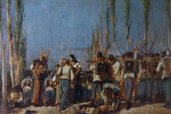 The Mantua Massacres-Giovanni Fattori-Giclee Print