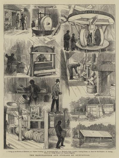 The Manufacture and Storage of Gunpowder-Alfred Chantrey Corbould-Giclee Print