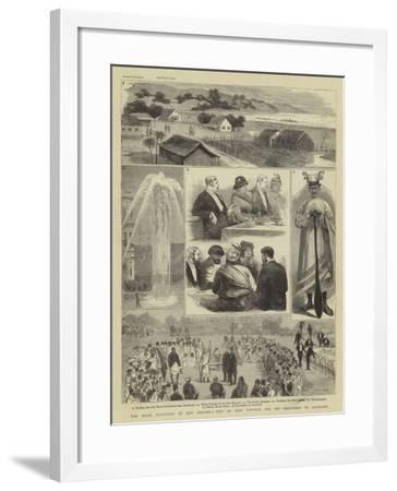 The Maori Difficulty in New Zealand, Visit of King Tawhiao and His Followers to Auckland-Joseph Nash-Framed Giclee Print