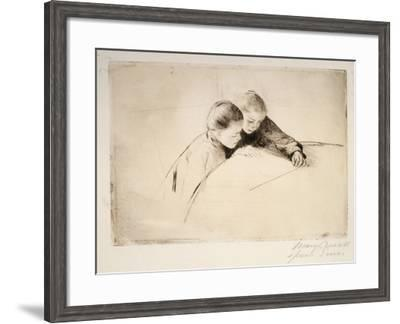 The Map, 1890-Mary Cassatt-Framed Giclee Print