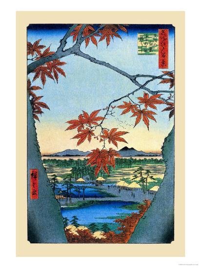 The Maple Trees-Ando Hiroshige-Art Print