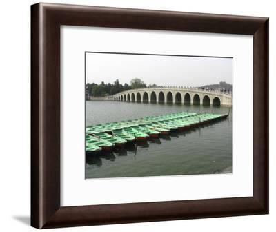 The Marble Seventeen Arch Bridge Spans Kunming Lake-Richard Nowitz-Framed Photographic Print