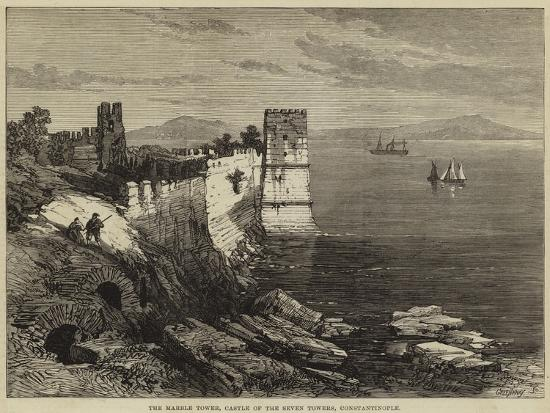 The Marble Tower, Castle of the Seven Towers, Constantinople--Giclee Print