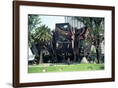 The March of Humanity in Latin America, Relief Mural on the Poliforum Cultural Siqueiros,…--Framed Photographic Print