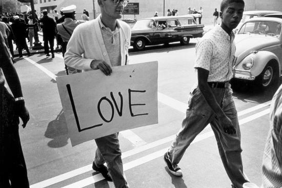 The March on Washington: Love, 28th August 1963-Nat Herz-Photographic Print