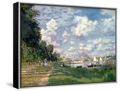 The Marina at Argenteuil, 1872-Claude Monet-Framed Canvas Print
