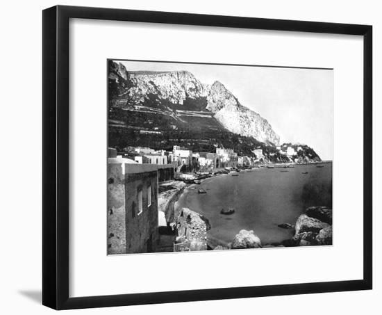The Marina, Capri, Italy, 1893-John L Stoddard-Framed Giclee Print