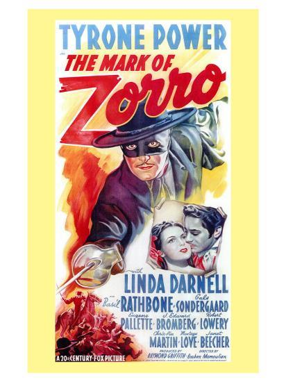 The Mark of Zorro, 1940--Art Print